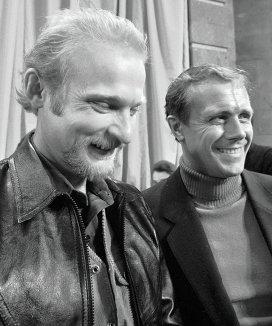 на фото Владимир Былыбердин и Эдуард Мысловский, 1982 год